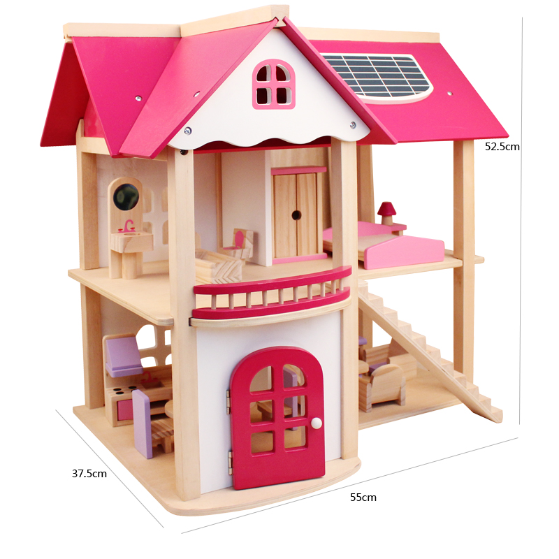 CUTEBEE-Pretend-Play-Furniture-Toys-Wooden-Dollhouse-Furniture-Miniature-Toy-Set-Doll-House-Toys-for-Children-Kids-Toy-4