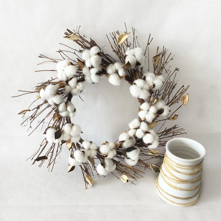 1 шт./лот натуральный искусственный хлопок растительные стручки венок для дома рождественские украшения