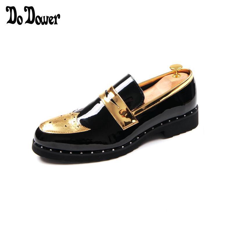 Nouvelles chaussures pour hommes de luxe marque or en cuir véritable décontracté conduite Oxfords chaussures plates hommes mocassins mocassins chaussures italiennes 2018