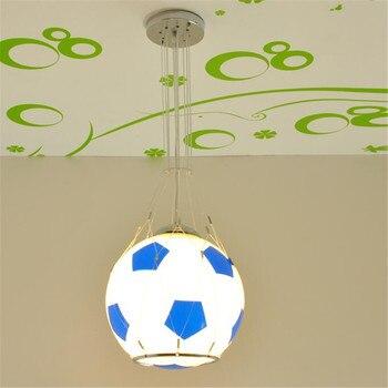 basketball football suction pendant lights Packet remote control LED lamp girl boy lamp cartoon lamp children room lighting ET11
