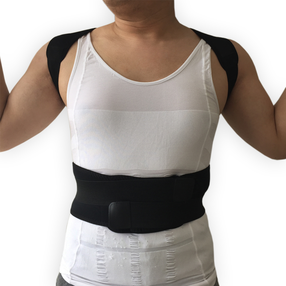 Ortopédico Corset Voltar Postura Corrector Ombro Suporte