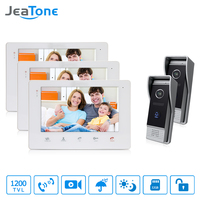 JeaTone Villa Wired Video Intercom Doorbell Video Door Phone Bell Kit Support Monitoring Unlocking Picture And