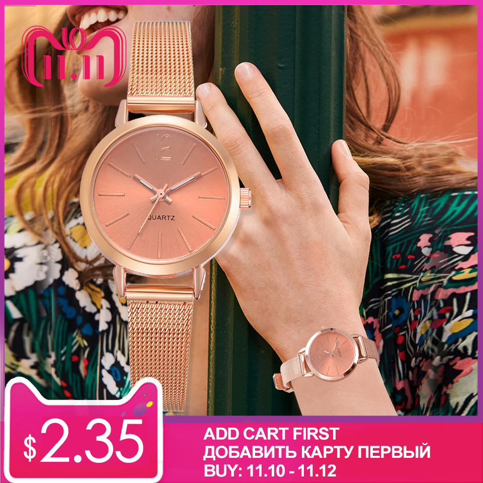 New Fashion Women Stainless Steel Silver Gold Mesh Watch Unique Simple Watches Casual Quartz Wristwatches Clock Hot Sale new luxury brand women gold quartz watch metal mesh stainless steel watches simple business ladies wristwatches clock relogios