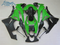 High quality fairings kit for KAWASAKI Ninja 2009 2010 2012 ZX6R full motorcycle sports fairing set ZX6R 09 12 green black parts