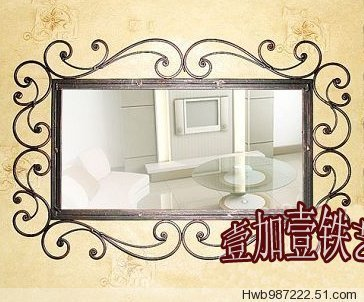 Continental Iron Iron Bathroom Mirror Wrought Iron Mirror Hanging Mirror In Bath Mirrors From