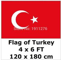 Turkey National Flag 4ft X6 Ft Hanging Flag Polyester Turkey Flag Outdoor Indoor 120x180cm Big Flag