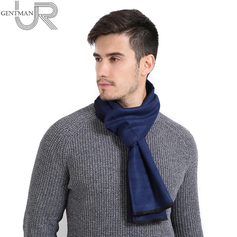 New Men's Cashmere Scarf Fashion Simple Solid Color Scarves 30cm * 190cm Winter Warm Smooth Scarf