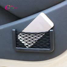 1 Piece 15X8cm Universal CAr Automotive Interior Bag with Adhesive Visor Car Net Trunk Organizer Pockets