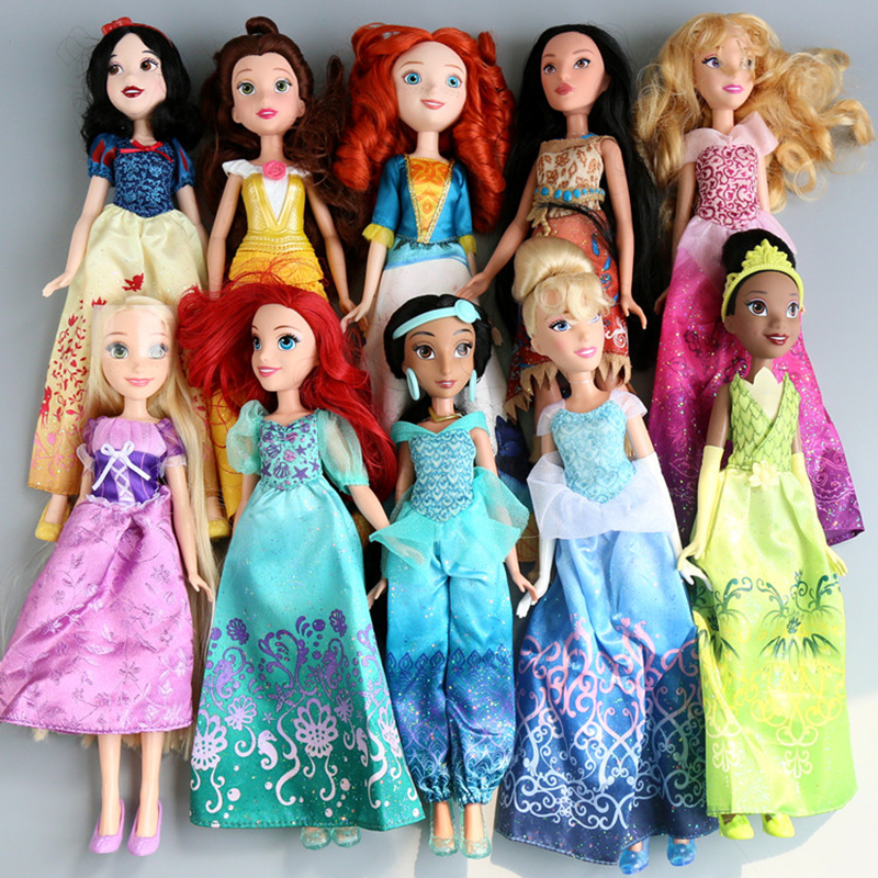 Rapunzel Princess Jasmine Animators Sharon Doll Sofia Snow White Ariel Merida Cinderella Aurora Belle dolls For girls toy