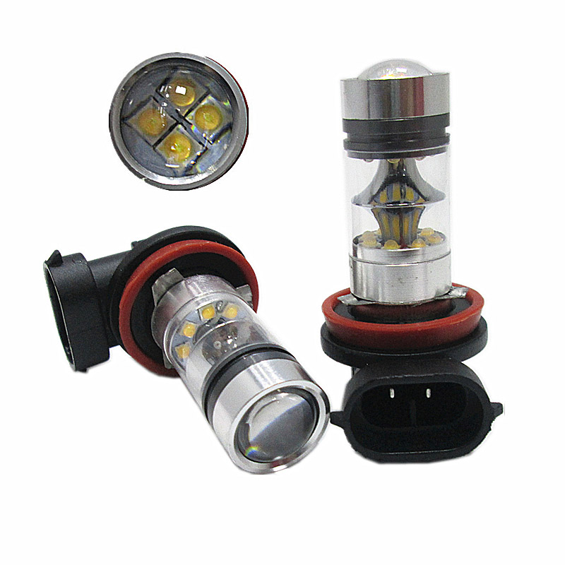 2x Top Quality H8 H11 100W High Power 20SMD Car Auto White LED Headlight Bulbs Fog