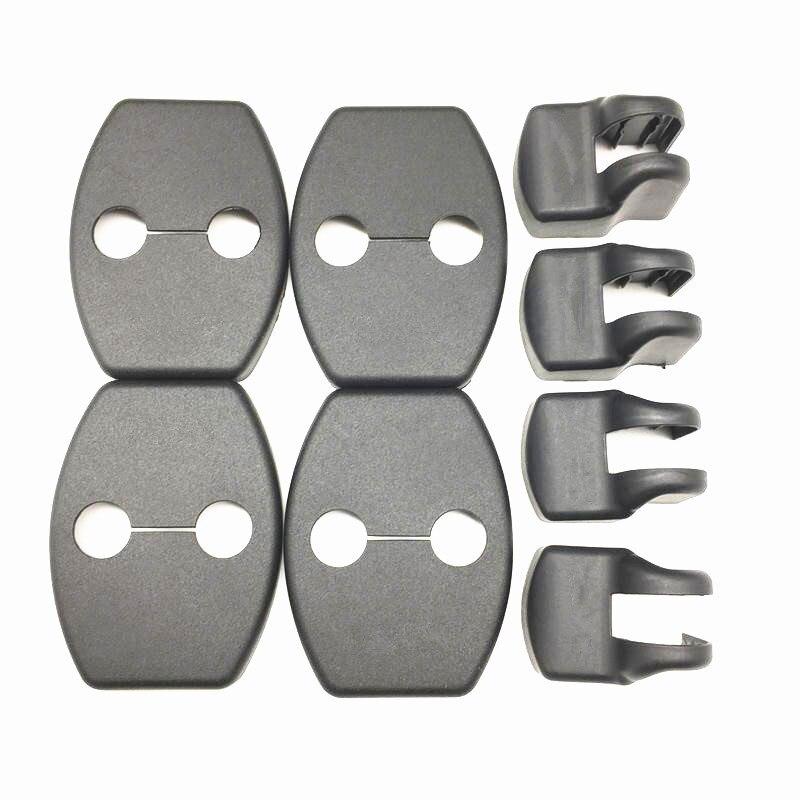 8pcs Door Lock Cover Stopper For Toyota RAV4 Highlander Kluger Land Cruiser Prado FJ Cruiser Sequoia Tundra Accessories