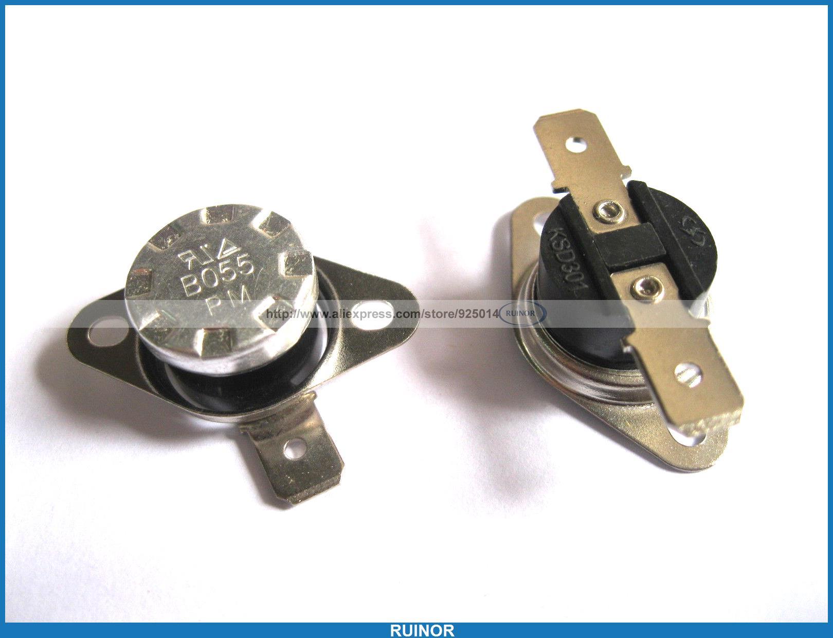 ФОТО 50 Pcs Temperature Switch Thermostat 55Degree N C KSD301