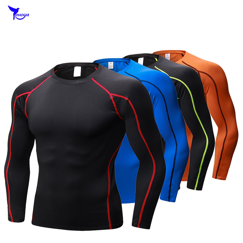 Brand New 2018 Summer Mens T-shirt Skin Tights Long Sleeve Tops Tees Men Compression Shirt Fitness Quick Drying T Shirt Clothing men outdoor long sleeve quick drying shirt