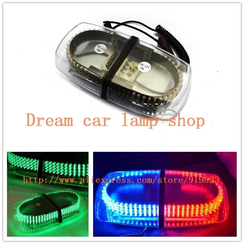 01012 New DC12V led lightbar 240 LED 20W Beacon light with Magnets Emergency Strobe Light bar 8 clolors LED warning Light