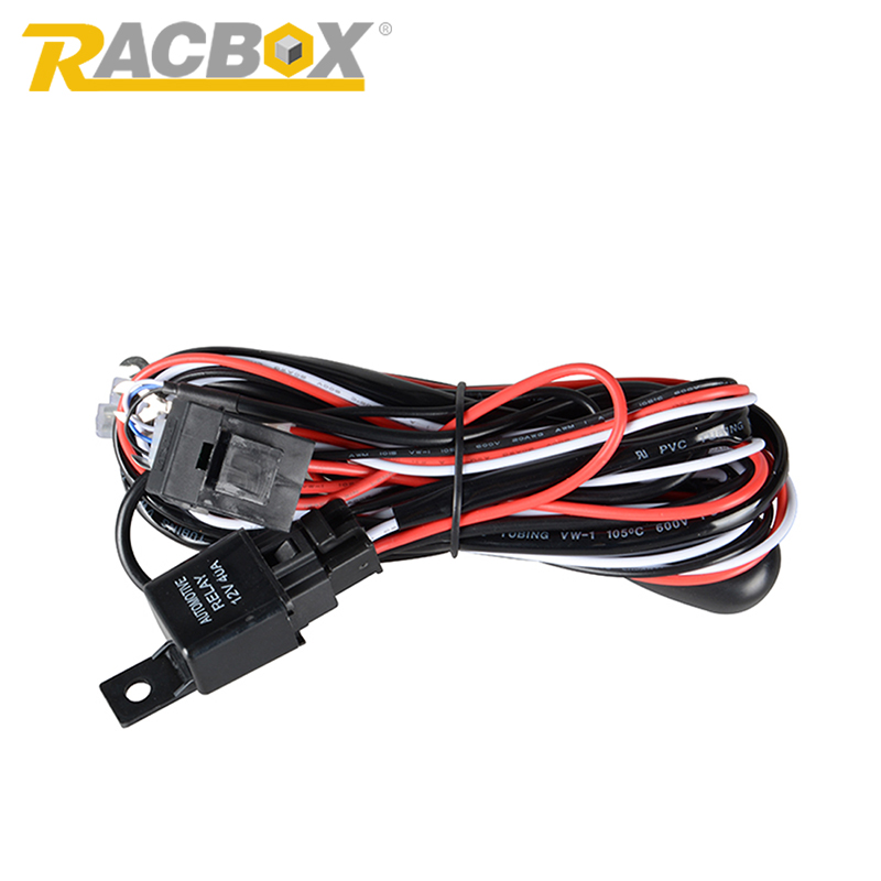 online buy whole lamp wiring kits from lamp wiring kits racbox 2 meter 12v 40a offroad led driving lamp extention wire relay led work light bar