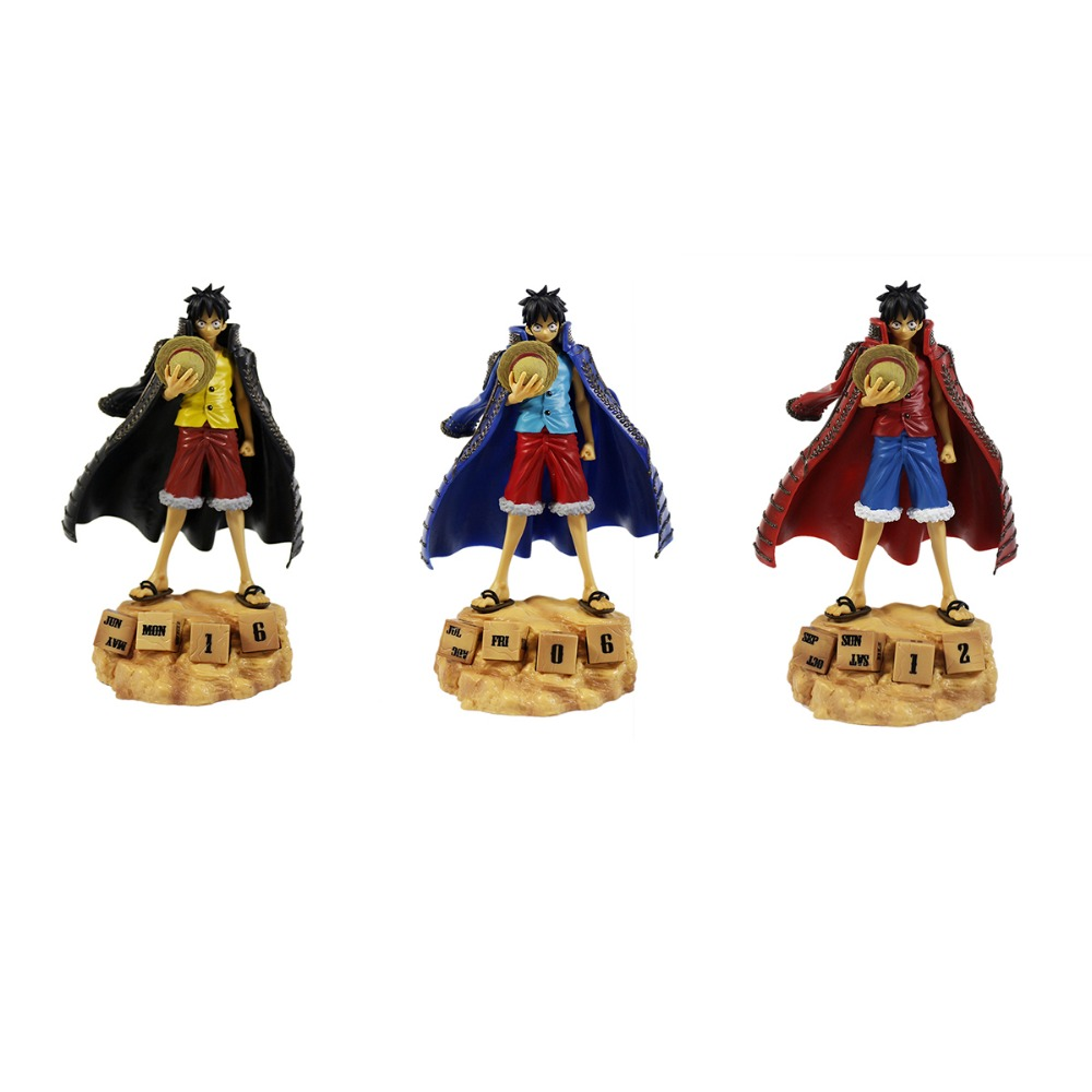 3pcs Set One Piece Anime Eternal Calendar Luffy 7 Figures Free Shipping one set 4 pcs 95mm