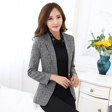 2018 summer ladies yellow blazer feminino plus formal women's white blaser rosa female blue women suit office ladies