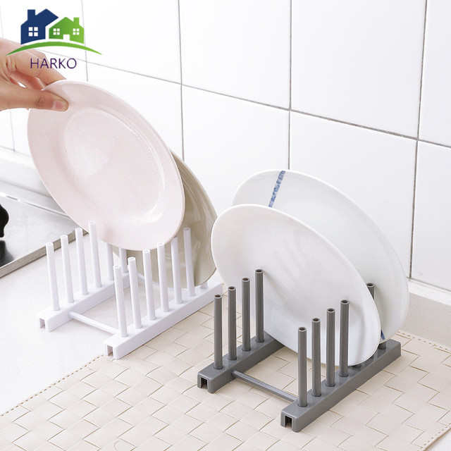 New Under Sink bowl plate dish drainer rack plastic BOOK Pot lid cover Holder storage shelf for kitchen Organizer accessories 2