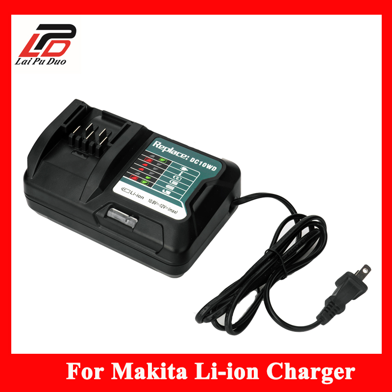 For MAKITA 10.8V 12V Replacement batteries DC10WD BL1015 BL1016 BL1021B BL1041B FD05 DT03 RJ03Z SH02Z PH04Z DC10SB Charger