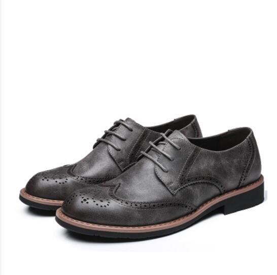 Oxfords Formal Couro Sapatos Se Genuíno yellow Para Homens Escritório grey Grande Vestem Negócios Dos Retro Flats Black brown De Tamanho 46 Sotaque Casamento 45 47 Xw6XYxq