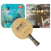 Pro Combo Racket DHS POWER G7 PG7 PG.7 PG 7 Long Shakehand FL with NEO Hurricane3 and 729 Focus III