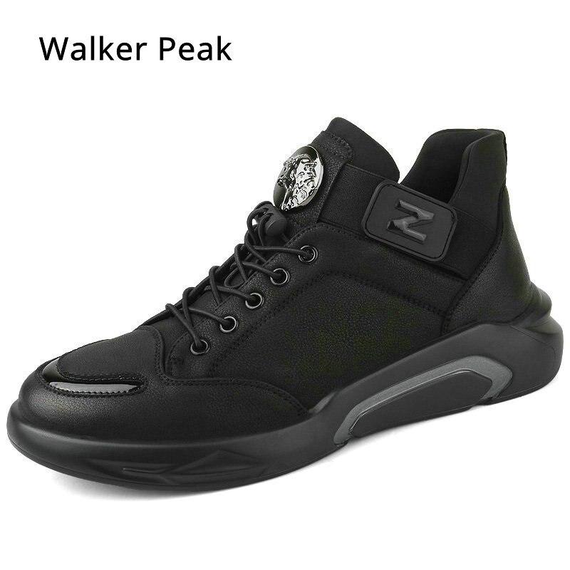 Мужские кроссовки, повседневная обувь, Осенняя обувь из натуральной кожи, мужская обувь на плоской подошве со шнуровкой, модная мужская обу...