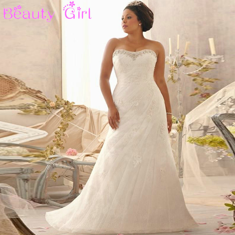 Online Get Cheap Full Figured Wedding Dresses Aliexpress