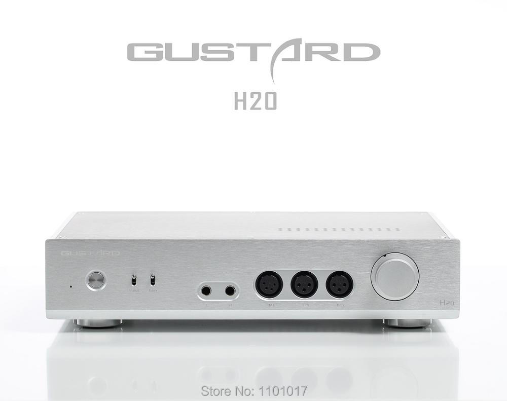 Gustard H20 Full XLR Headphone Amp PreAmplifier HIFI EXQUIS Class A Dual LM49720 Balanced Output gustard h10 high current 25w 2 discrete class a hifi stereo headphone amplifier
