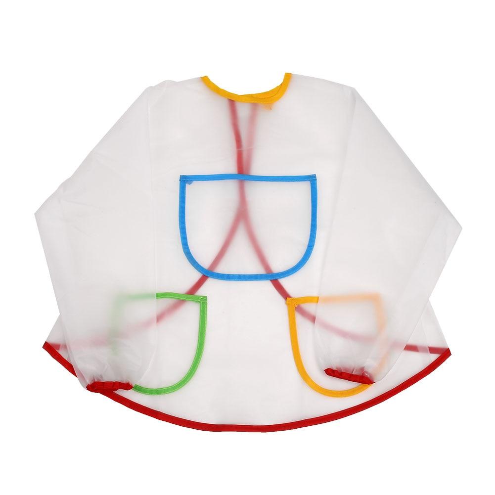 Buy white apron online - Child Toddler Kid Waterproof Long Sleeve Artist Art Painting Apron Smock China Mainland