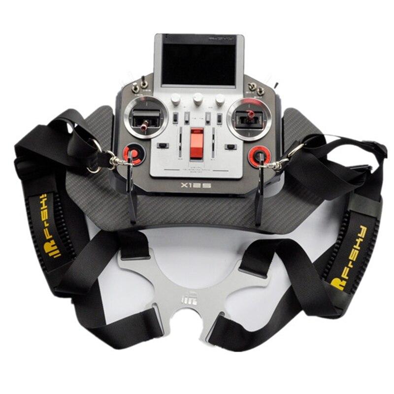 Free Shipping Frsky Horus X12S Carbon Fiber Remoto Controller Tray Transmitter Holder Shoulder Strap for RC Toys Multirotor