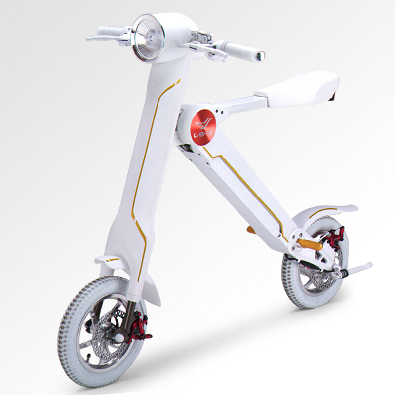 12″lehe Electric Scooter Smart City Walking Electric Bicycle Mini Folding Electric Bike Instead Walking Tool 36v Li-ion Ebike