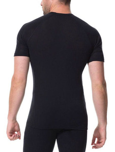 Image 2 - 2020 Mannen Merino Wol T shirt 100% Merino Wol Shirt Zachte Vochtregulerende Geur Weerstand T shirt Mannen 160G size M XL Zwart