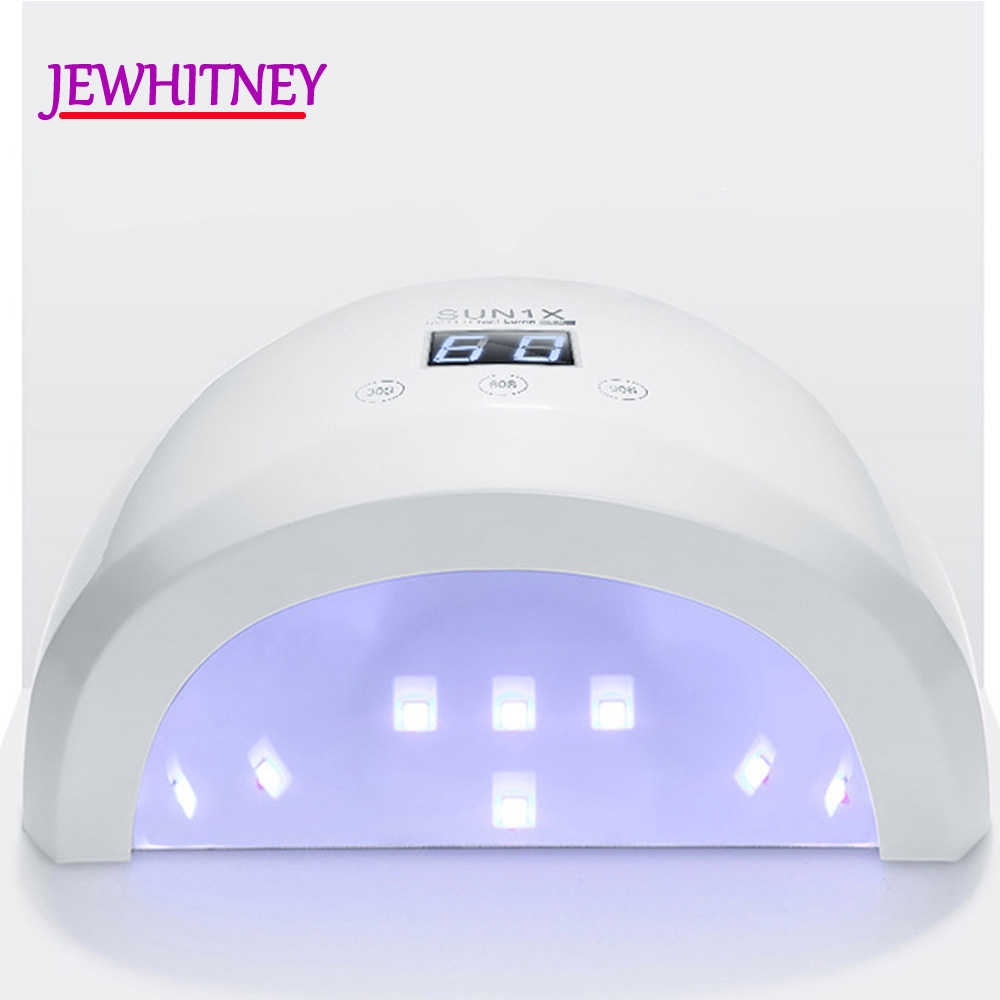 SUN1x 36W Nail Dryer UV LED Nail Lamp With Automatic Sensor Smart 30/60/90s Timer UV Lamp With LCD Display Light Nail Art Tools 2017 new gift with uv lamp remote control lcd display automatic vacuum cleaner iclebo arte and smart camera baby pet monitor