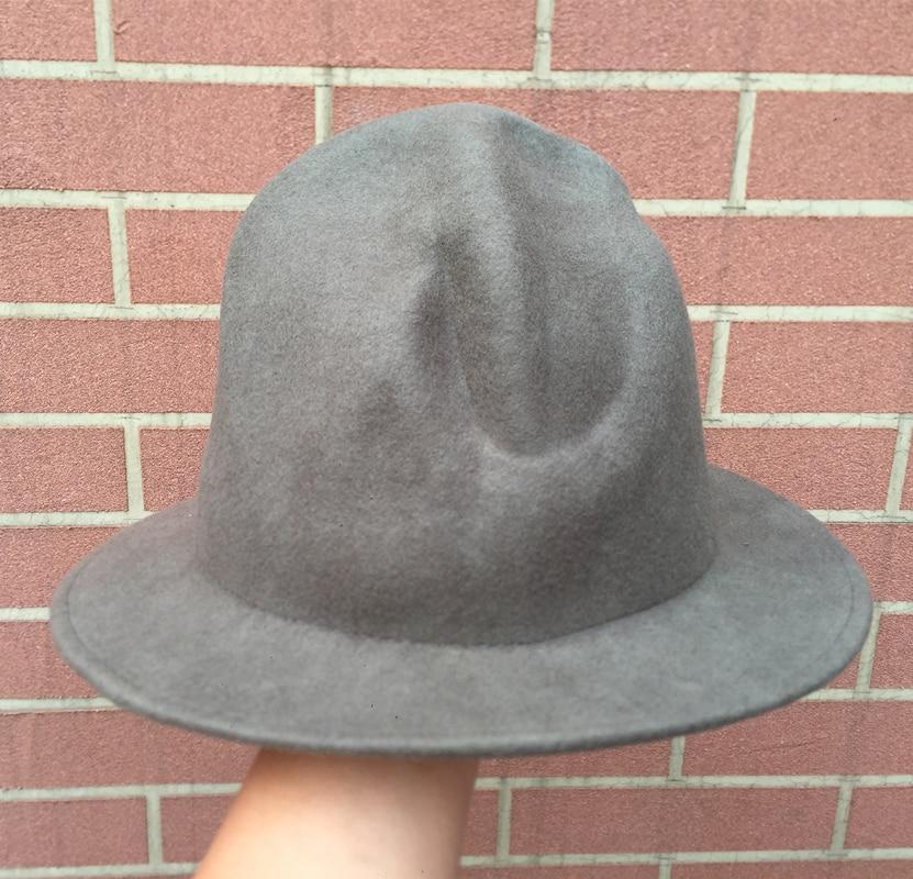 de78f618bdbb8 Wool Felt Tall Mountie Buffalo Hat  Happy Pharrell Williams Rapper Westwood  Mountain Hat-in Fedoras from Apparel Accessories on Aliexpress.com