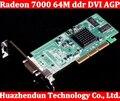2 шт./лот Новый ATI Radeon 7000 64 М ddr DVI Agp Видеокарта Видеокарта бесплатная доставка высокое качество