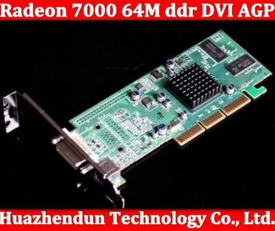 2 pçs/lote Brand New ATI Radeon 7000 64 M ddr DVI AGP Placa Gráfica Placa de Vídeo frete grátis de alta qualidade