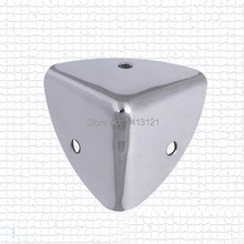 TNT free shipping 37B metal corner bracket Aluminum case corner Luggage bag hardware accessories airbox sound