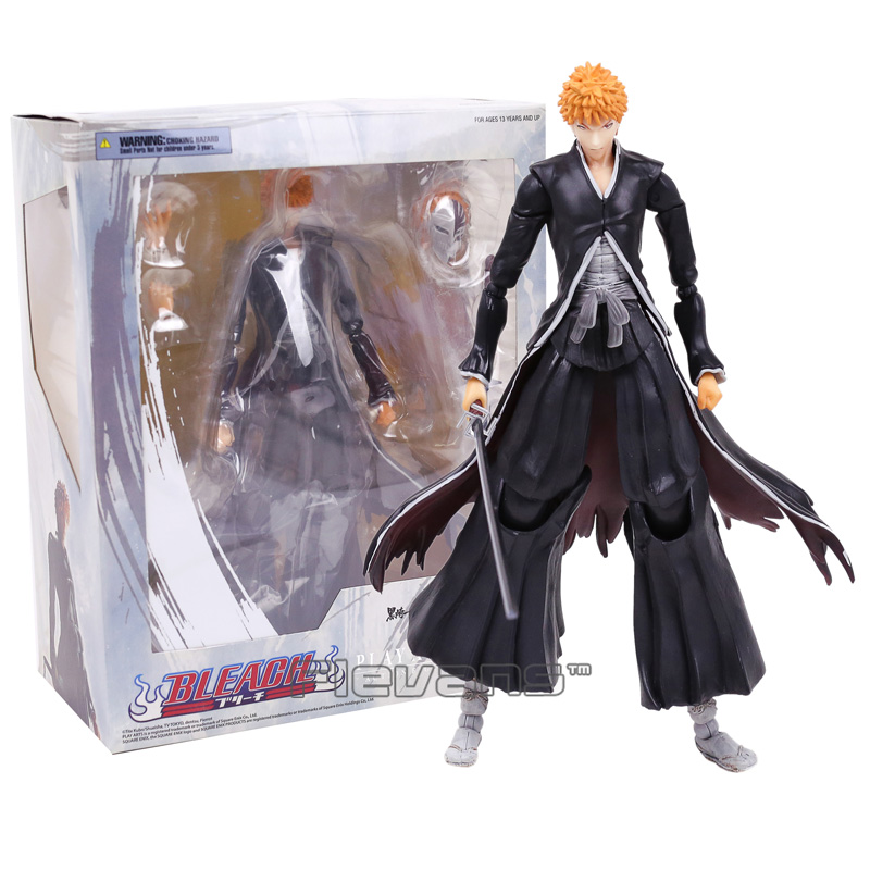 Play Arts Kai Anime BLEACH Ichigo Kurosaki PVC Action Figure Collectible Model Toy 26cm playarts kai star wars stormtrooper pvc action figure collectible model toy