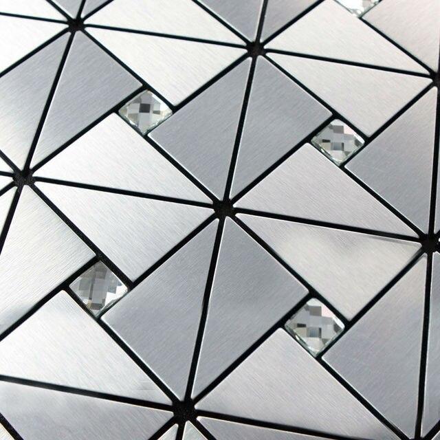 Delightful Kitchen Backsplash Tiles Metallic Mosaic Aluminum Plate Diamond Crystal  Glass Tile Design Art Discount Bathroom Wall