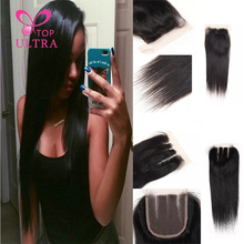 8A Free Part/Middle Part/ Three Part Lace Closure Human Hair Products Queen Hair Straight Brazilian Lace Closure Bleached Knots