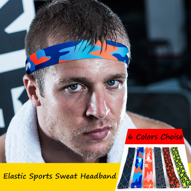 4bf0c87fecda DropShipping 6 Colors Absorbent Sport Sweat Headband Sweatband For Men  Women Yoga Hair Bands Head Sweat