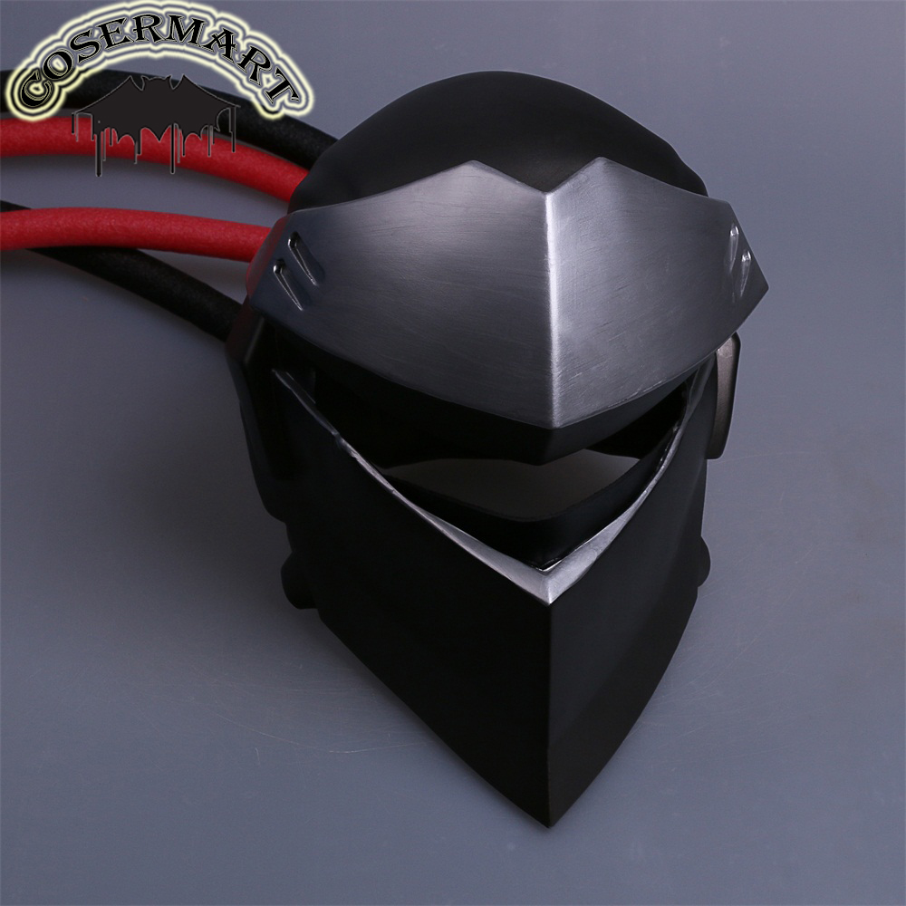New Over and watch Genji Overhead Mask Cosplay Costumes PVC OW Helmet Game Halloween Party Prop