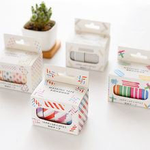 10 pes/set Fitting Decoratie van DIY Hand-boek Dagboek Washi Tape Groothandel Sticker Tape 15mm X 5 m Lengte(China)