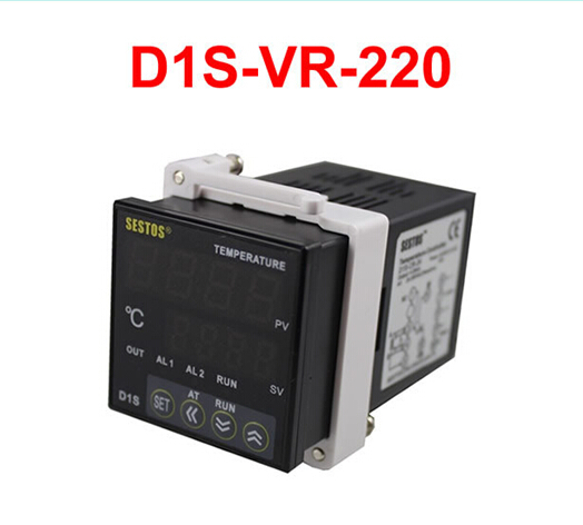 Sestos Dual Digital Pid D1S-VR-220 Temperature Controller 2 Omron Relay Output sestos dual digital pid temperature controller 2 omron relay output black d1s vr 220 k sensor 25a da ssr thermostat