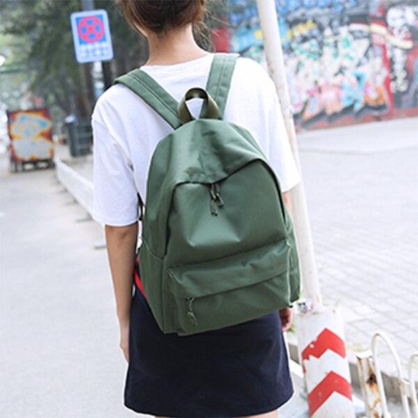 Canvas Plain Women Backpack New Japan Ring Leisure Travel Backpack For Girl Female Shoulder Bag Rucksack Mochila My Bagpack #4