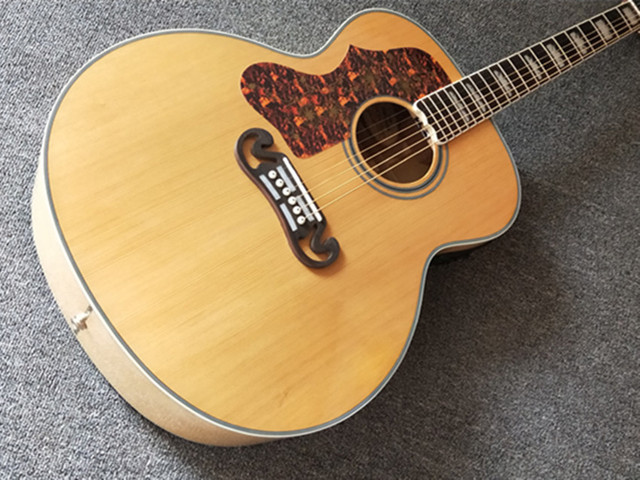 Natural 43 inch Left Hand Concert Acoustic Guitar,Solid Spruce Top Acoustic Guitar,Maple Back and Side,FreeShipping