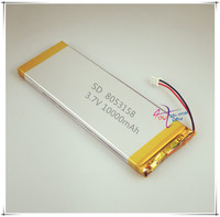 XHR 2P 2.54 10000mAh 3.7V group 3853158*2 7553158 polymer lithium battery Rechargeable batteries