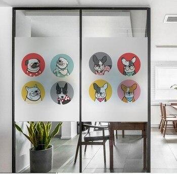Tamano Personalizado Ventana De Pelicula Estatica Esmerilado Vidrio - Vidrio-decoracion