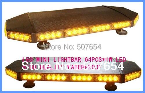 High Star 70cm DC12V 64W Led mini lightbar, policejní výstražná světla, sanitka, hasičský vůz nouzový lightbar, warerproof