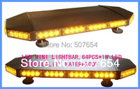 Higher star 70cm DC12V 64W Led mini lightbar,police warning lights,ambulance,fire truck emergency lightbar,warerproof